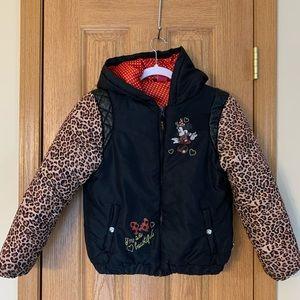 Disney Minnie Mouse Hoodie Winter Coat 10/12